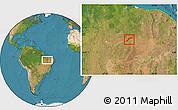 Satellite Location Map of Maranhao/piaui