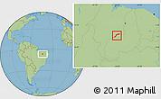 Savanna Style Location Map of Maranhao/piaui