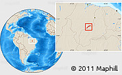 Shaded Relief Location Map of Maranhao/piaui