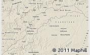 Shaded Relief Map of Maranhao/piaui