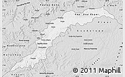 Silver Style Map of Maranhao/piaui