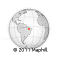 Outline Map of Maranhao/piaui