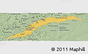 Savanna Style Panoramic Map of Maranhao/piaui