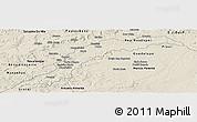 Shaded Relief Panoramic Map of Maranhao/piaui