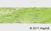Physical Panoramic Map of Rep. Boa Esper.