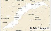 Classic Style Simple Map of Maranhao/piaui