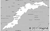 Gray Simple Map of Maranhao/piaui