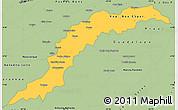 Savanna Style Simple Map of Maranhao/piaui