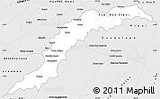 Silver Style Simple Map of Maranhao/piaui