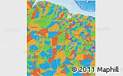 Political 3D Map of Maranhao