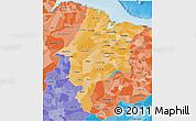 Political Shades 3D Map of Maranhao