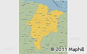 Savanna Style 3D Map of Maranhao