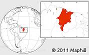 Blank Location Map of Maranhao