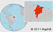 Gray Location Map of Maranhao