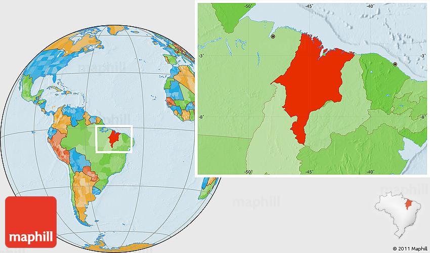 political location map of maranhao