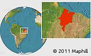 Satellite Location Map of Maranhao