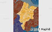 Political Shades Map of Maranhao, darken