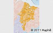 Political Shades Map of Maranhao, lighten