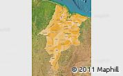 Political Shades Map of Maranhao, satellite outside