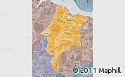 Political Shades Map of Maranhao, semi-desaturated