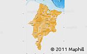 Political Shades Map of Maranhao, single color outside