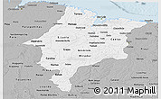 Gray Panoramic Map of Maranhao