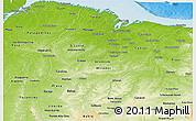 Physical Panoramic Map of Maranhao