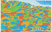 Political Panoramic Map of Maranhao
