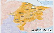 Political Shades Panoramic Map of Maranhao, lighten