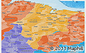 Political Shades Panoramic Map of Maranhao