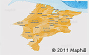 Political Shades Panoramic Map of Maranhao, single color outside