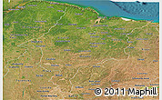 Satellite Panoramic Map of Maranhao