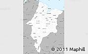 Gray Simple Map of Maranhao