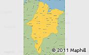 Savanna Style Simple Map of Maranhao