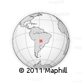 Outline Map of Corumba