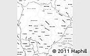 Blank Simple Map of Mato Grosso do Sul