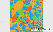 Political Simple Map of Mato Grosso do Sul