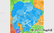 Political Shades Simple Map of Mato Grosso do Sul