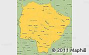 Savanna Style Simple Map of Mato Grosso do Sul