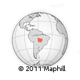 Outline Map of Mato Grosso