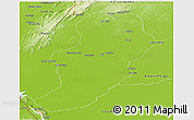 Physical Panoramic Map of Pocone