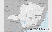 Gray 3D Map of Minas Gerais