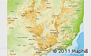 Physical 3D Map of Minas Gerais