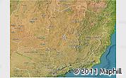 Satellite 3D Map of Minas Gerais