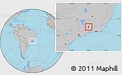 Gray Location Map of Aiuruoca
