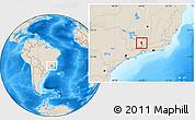 Shaded Relief Location Map of Aiuruoca