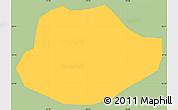 Savanna Style Simple Map of Alagoa, single color outside