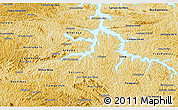 Physical 3D Map of Alfenas