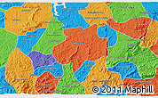 Political 3D Map of Andrelandia