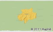 Savanna Style 3D Map of Andrelandia, single color outside